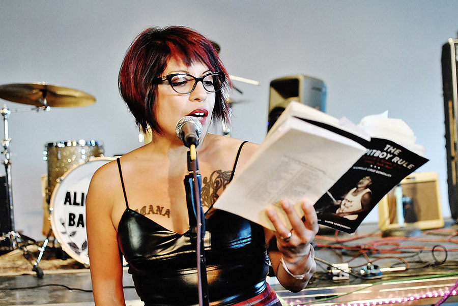 Michelle Cruz Gonzales reading her book, The Spitboy Rule