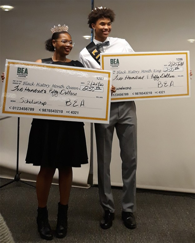 BHM King & Queen Sykler Robinson and Tiffany Williams