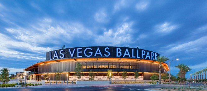 Las Vegas Ballpark at Magic Hour