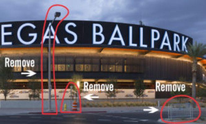 Las Vegas Ballpark Remove Items