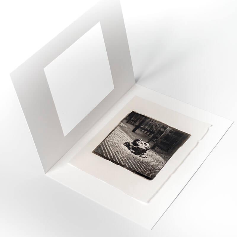 Platinum Palladium print mount with cotton rag mat