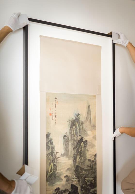 Installation Chinese Hanging Scroll 中式國畫 書法 掛軸