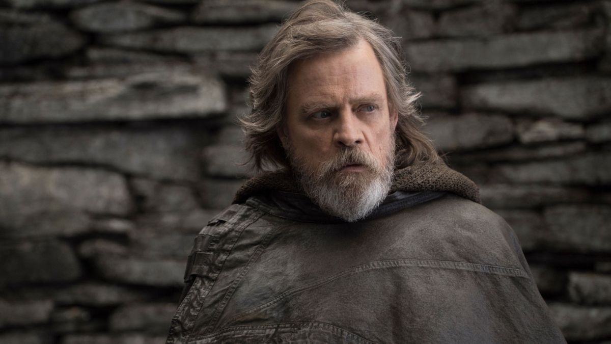 Still of Luke Skywalker from The Last Jedi