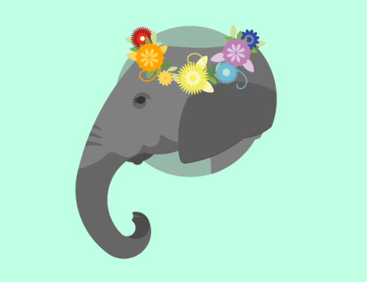 Pride from the Slight Right Side: A Queer Moderate's Take: Picture of a gay republican elephant with a pride flower crown.