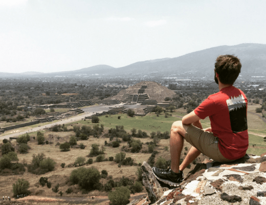 Spectrum South writer Josh Inocencio overlooking the Teotihuacan pyramids in Mexico City, Mexico.