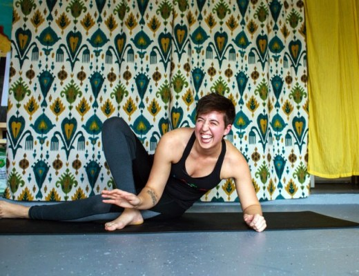 A photo of queer Austin yoga instructor Abi Robins.