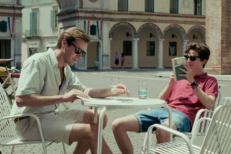 An image from the queer film Call Me by Your Name.