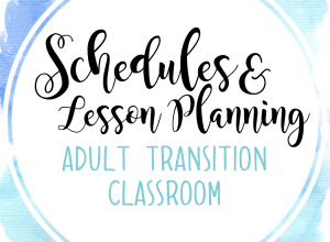 BLOG: Schedules and lesson planning in an adult transition life skills classroom.