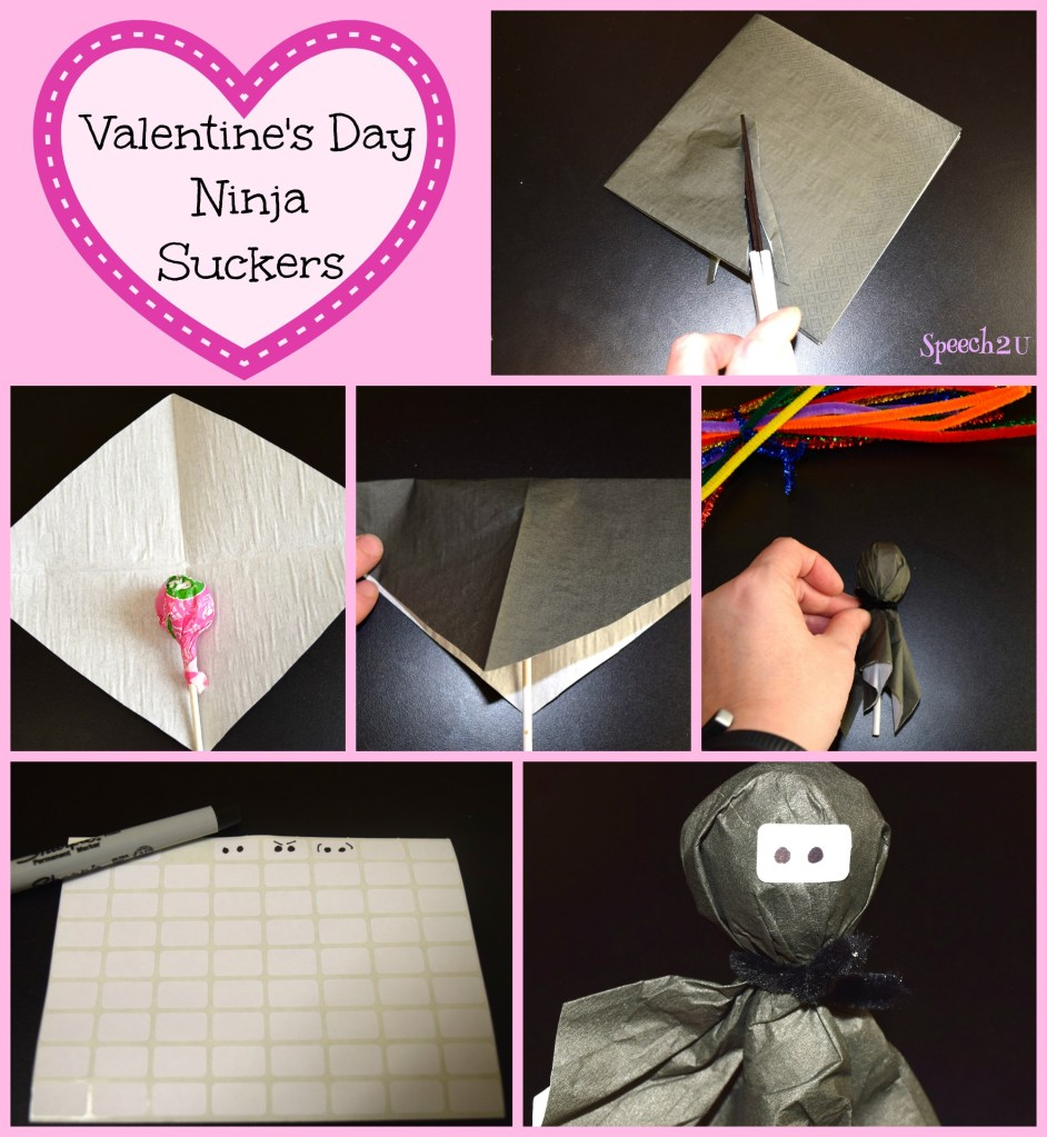Ninja Valentine Suckers: For the Love of Speech Blog Hop