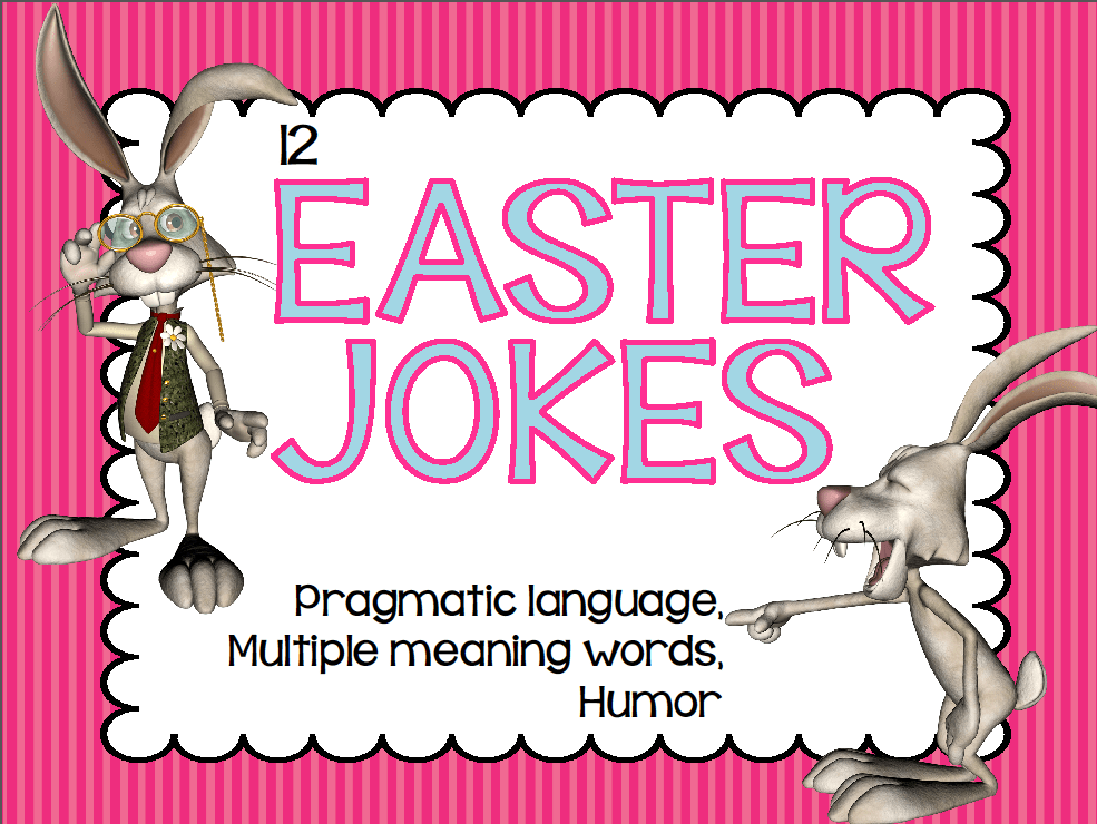 Hoppy Easter: Fun jokes to share while strengthening language skills {freebie}