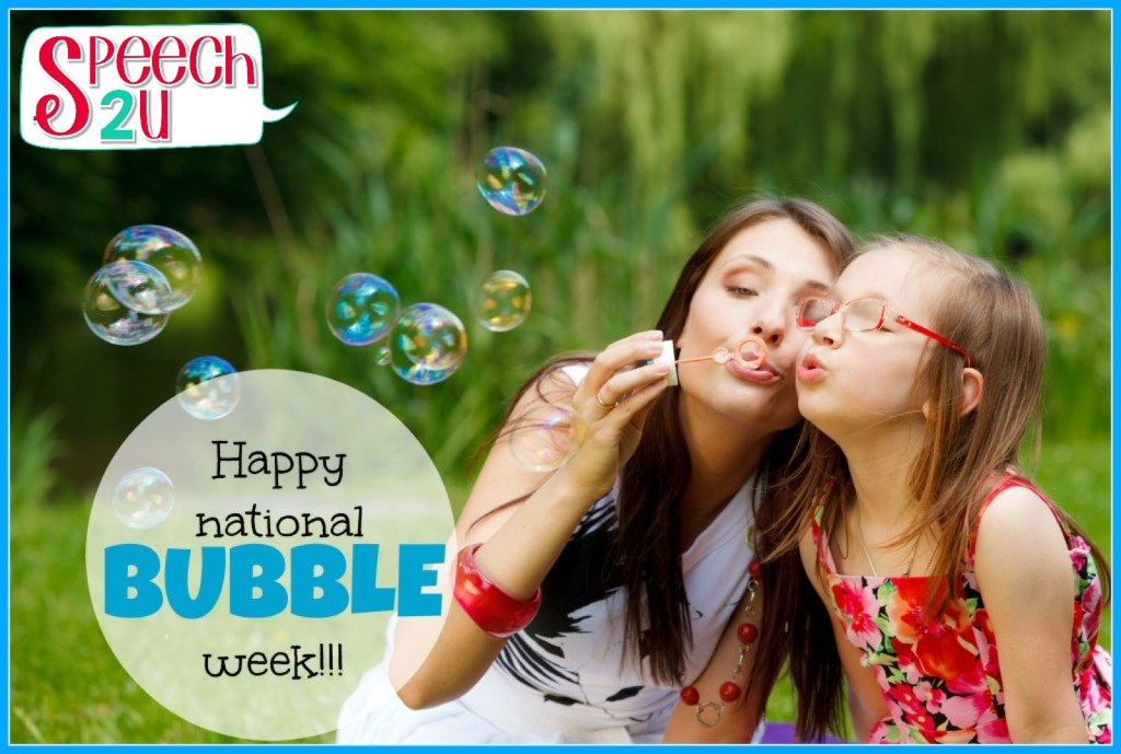Speech therapy bubbles