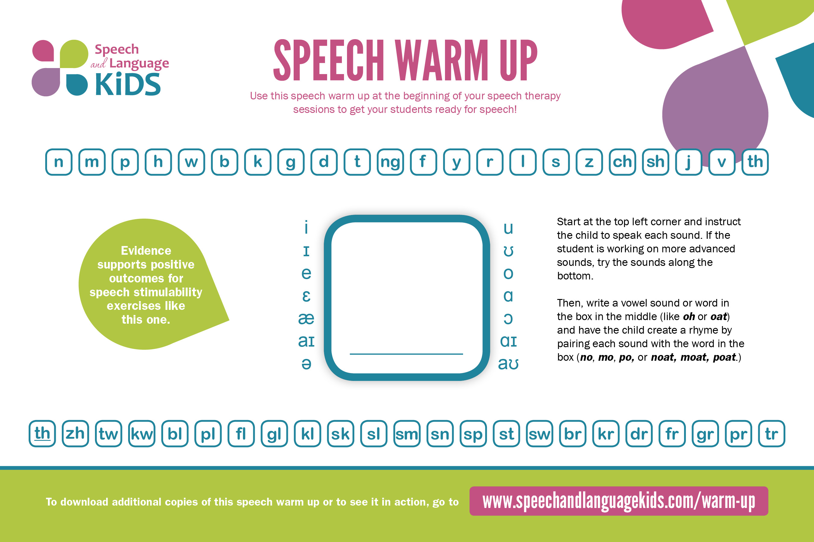 Speech Therapy Warm Up
