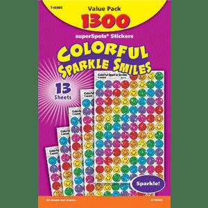 Sparkle Smiles - Mini Stickers For Dot Books (1,300)-0