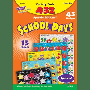 School Days - Sparkle Stickers (432 stickers, 43 designs)-0