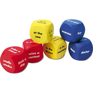 Foam Story Starter Cubes - Words-0