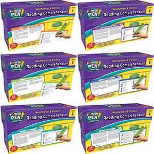 Nonfiction & Fiction Comprehension Power Pen Cards Combo 1-6-0