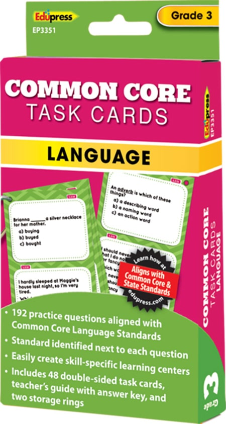 Common Core Language Task Cards: Grade 3-4280