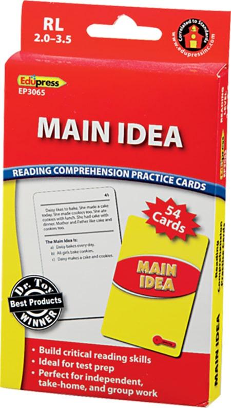 Comprehension Practice Cards: Main Idea (Reading Level 2.0-3.5)-4755