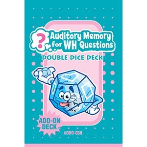 Auditory Memory For WH Questions Double Dice Add-On Deck-0