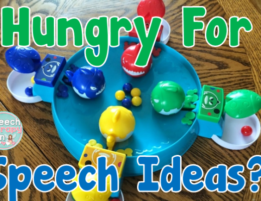 Speech Therapy Fun: Hungry For Speech Ideas