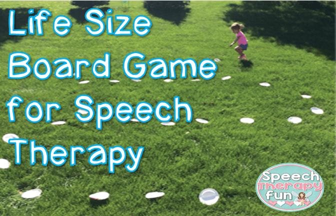 Speech Therapy Fun: Life Size Board Game