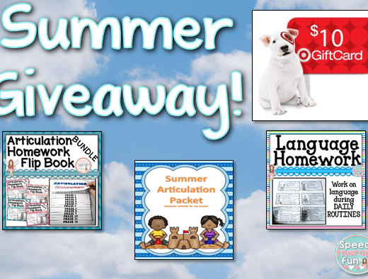 Speech Therapy Fun: Summer Giveaway