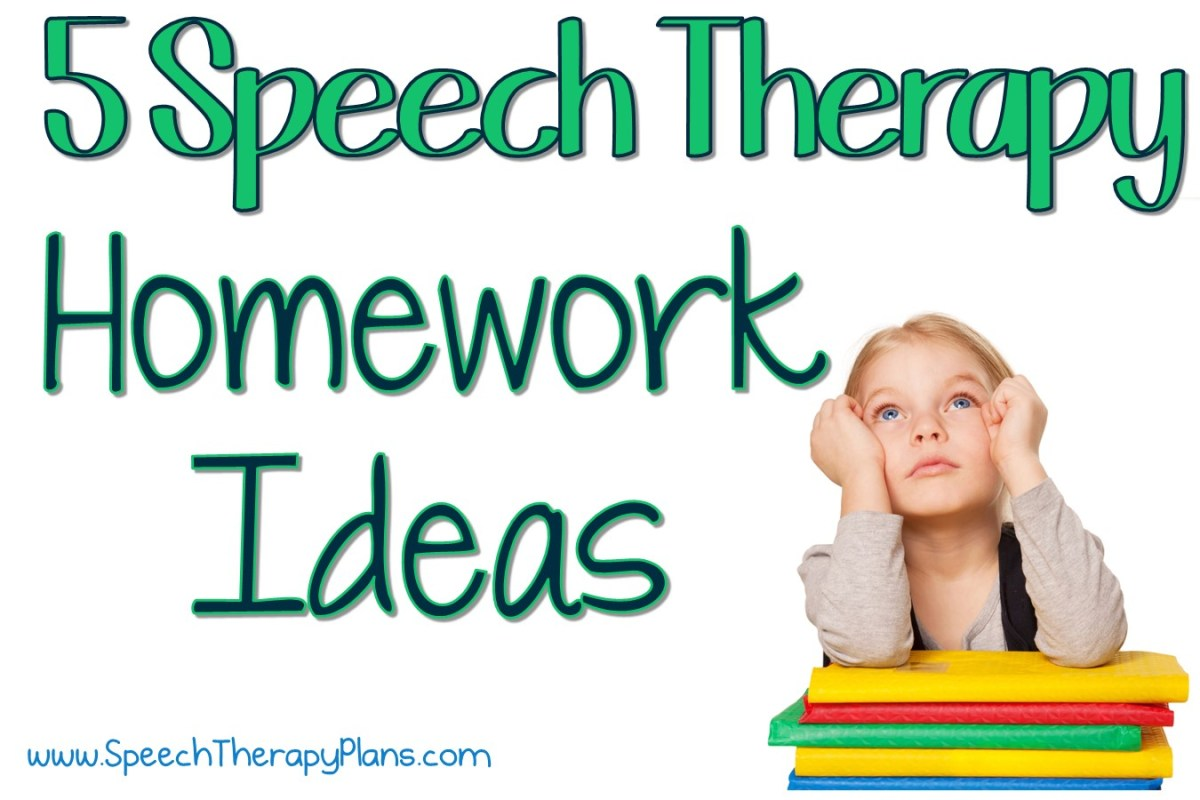 5 Speech Therapy Homework Ideas
