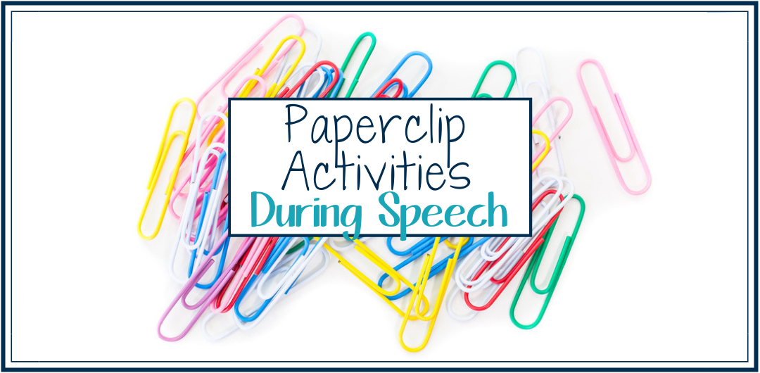 Using paper clips in speech therapy