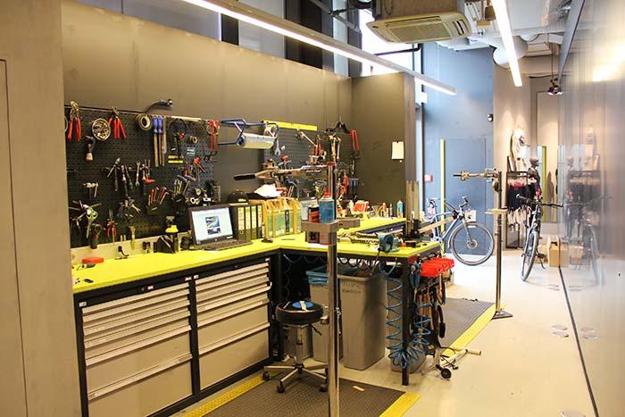 ...Werkstatt in der ROSE Biketown