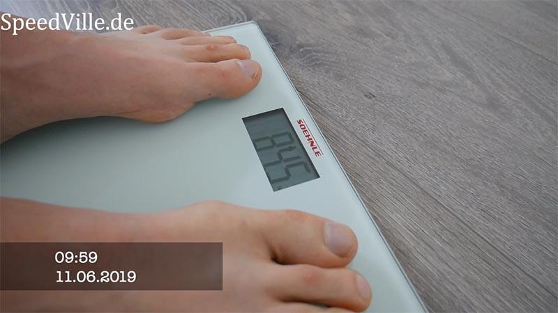 Gewichtsabnahme nach den 30 Tagen