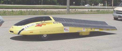 Sunseeker solar car Michigan University