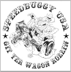 Speedbuggy Usa Git Yer Wagin' Rollin' Merchandise Logo