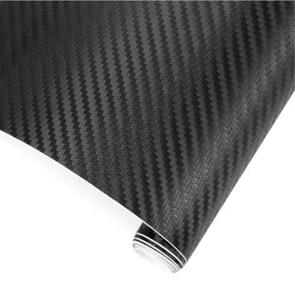 Vinilo Adhesivo Fibra Carbon Negro