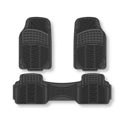 Alfombra Universal Para Carros De Caucho Negro