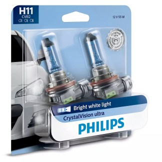 Bombillo Crystal Vision Philips H11 12V