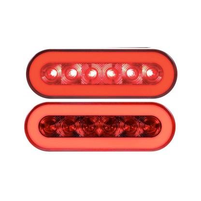 """Luces De Led Para Camión 6.5"""" Ovalada Roja"""