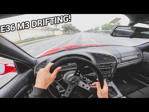 BMW E36 M3 DRIFTING IN THE RAIN!! –  POV DRIVE! (Loud Exhaust)