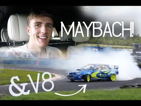 Drifting V8 Subaru and a Mercedes Maybach/AMG GTR/C63!