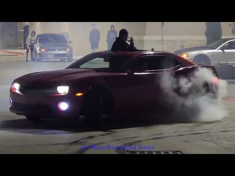 HUGE FIGHT BREAKS OUT AT CAR MEET   CAR CRASHES WHILE DRIFTING