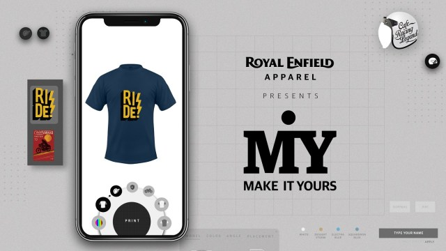 Royal Enfield Make-It-Yours Initiative on Apparel