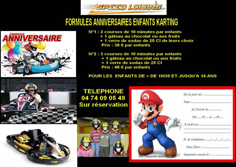 formules anniversaires enfants karting