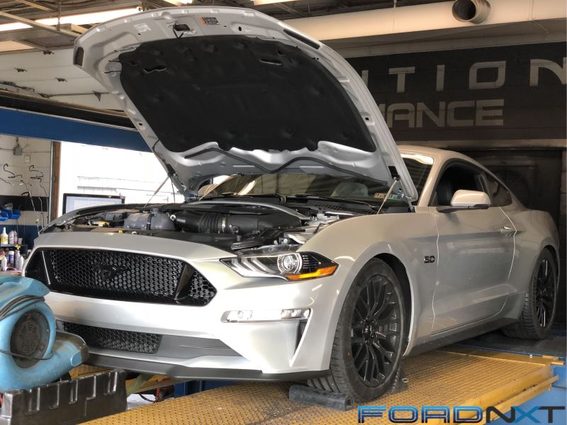 Bolt On  Naturally Aspirated 2018 Mustang Blasts Out Over 500 Rear     Evolution Performance s Fred Cook wasted no time modding his brand new 2018  Mustang GT auto  With a carefully chosen selection of bolt ons from JLT
