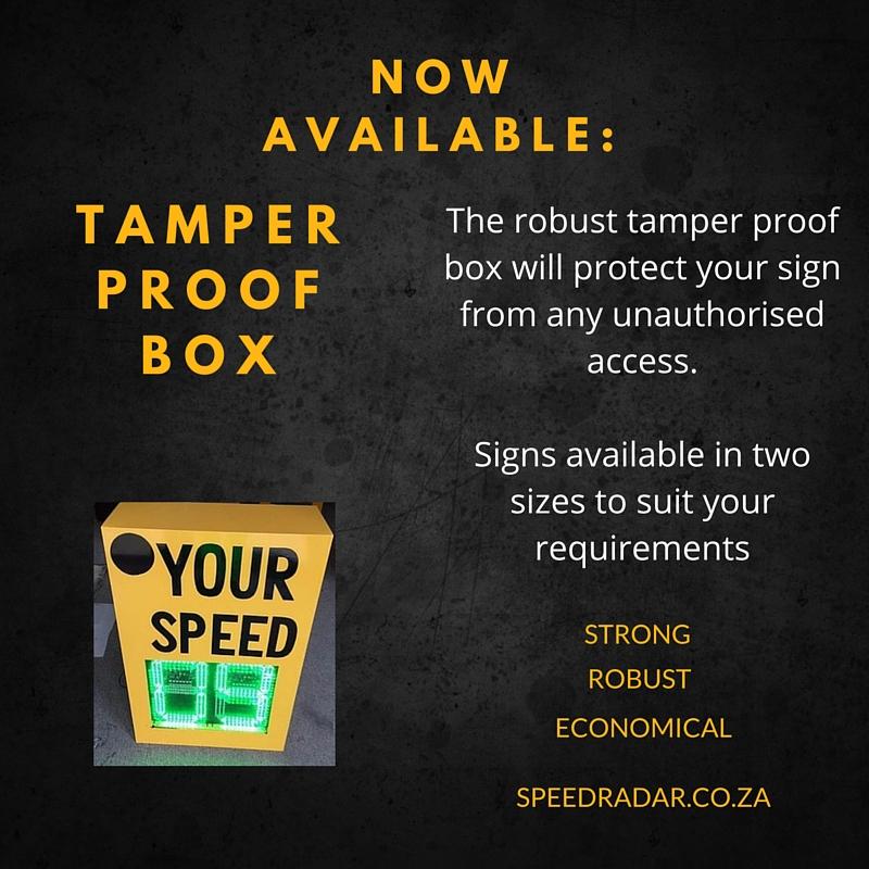 TAMPER BOX SPEED RADAR