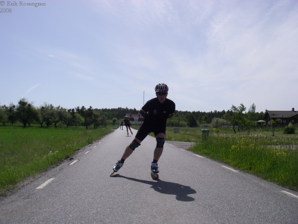 Andreas i full fart