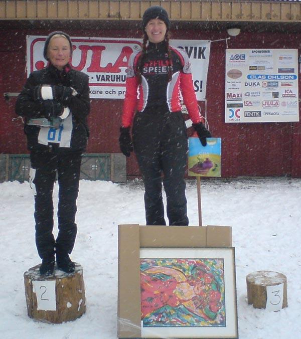 Sollentunaloppet 22 feb 2009, Berit Olofsson. Mobilkamerafoto: Björn Larsson.