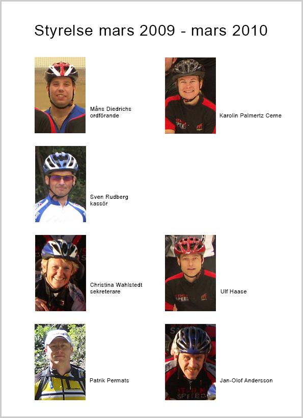 Sthlm Speeds styrelse 2009-03