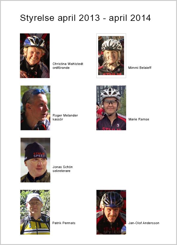 Sthlm Speeds styrelse 2013-04