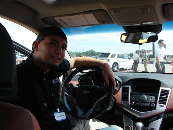 Inside the Chevy Cruze high-contrast interior.