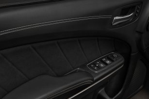 The 2020 Dodge Charger SRT Hellcat Widebody features premium French live-stitch upper door panels