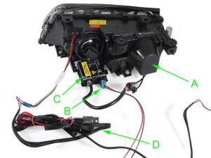 DEPO 0206 BMW E46 M3 UHP WHITE LED D2S BiXENON HEADLIGHT  CORNER SIGNAL LIGHT
